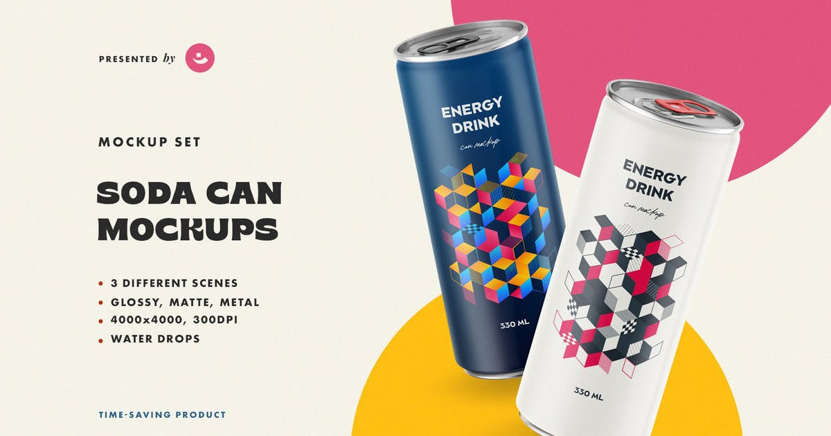 Download Soda Can Mockups by pixelbuddha_graphic