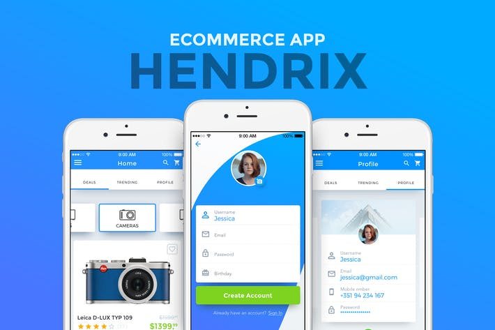 Thumbnail for Hendrix - Multipurpose E-Commerce App