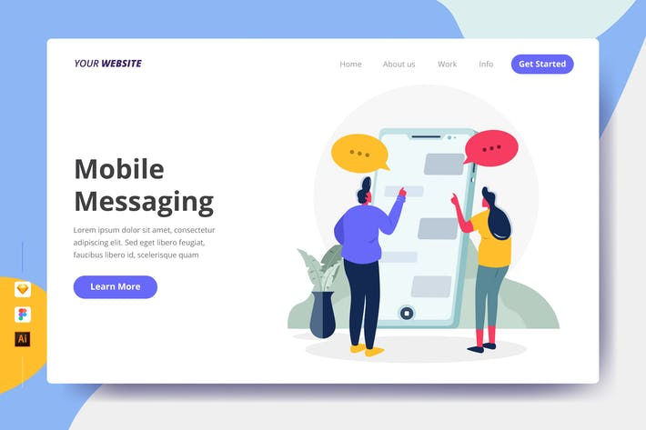 Thumbnail for Mobile Messaging - Landing Page