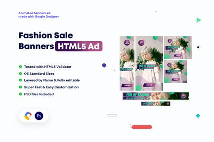 Fashion Sale Banners HTML5 Ad