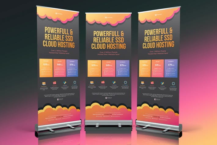 Thumbnail for Cloud Web Hosting Roll Up Banner