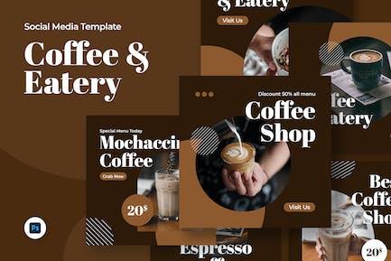 Moca - Coffee Shop Social Media Template