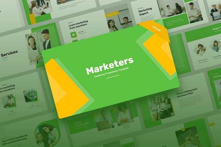 Marketers - Marketing Google Slides Presentation