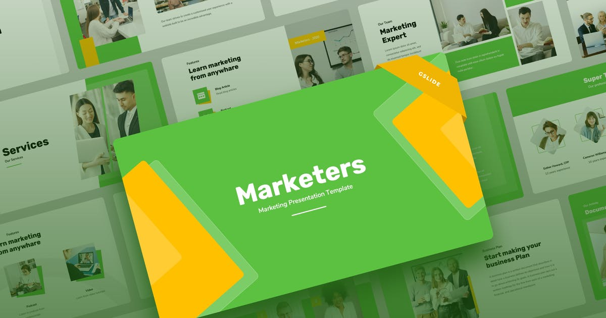 Download Marketers - Marketing Google Slides Presentation by mhudaaa