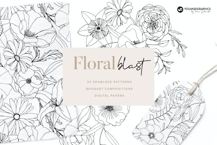 Floral Blast Patterns and Bouquets