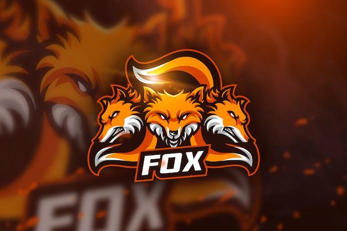 Thumbnail for Three Fox - Mascot & Esport Logo