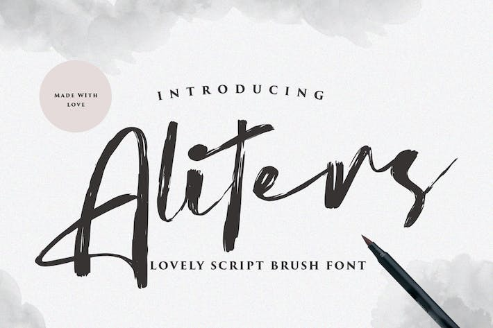 Aliters | Handbrush Font