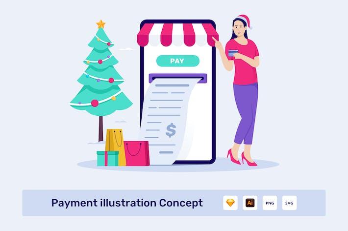 Thumbnail for Иллюстрация оплаты Концепция Вектор
