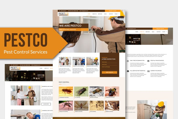 thumbnail for pestco pest control services muse templates