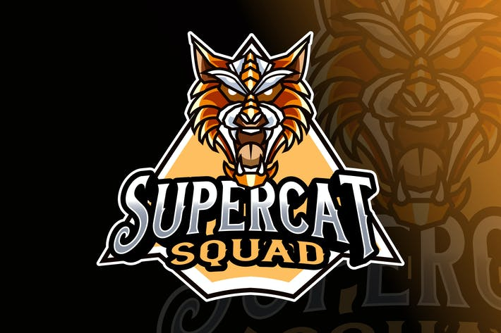 Thumbnail for Super Cat Logo Template