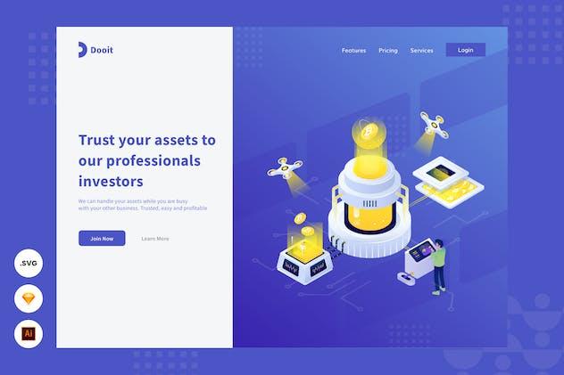 Investment Services -  Website header Illustration