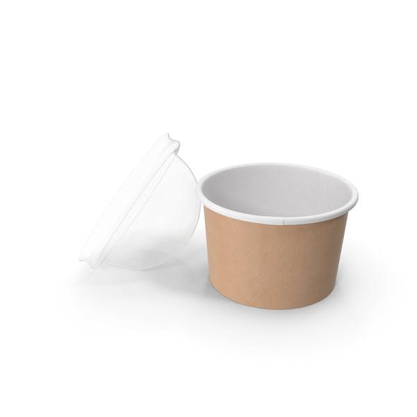 Крафт-бумага Food Cup с прозрачной крышкой для десерта 6 унций 150 мл Open