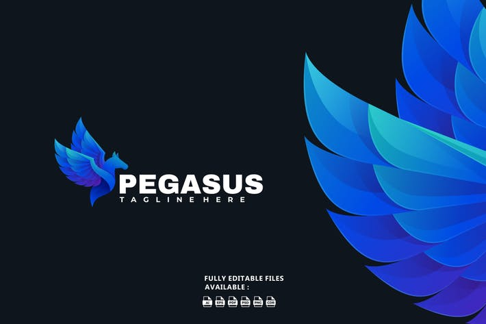 Pegasus Gradient Logo