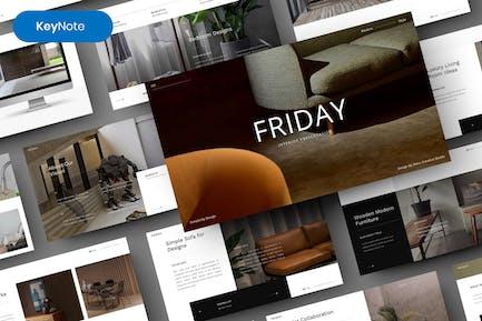 Friday– Interior Design Business Keynote Template