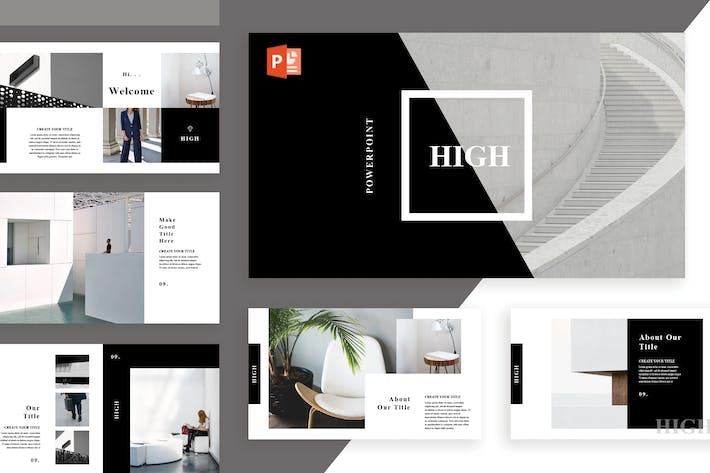 Thumbnail for High Powerpoint Template