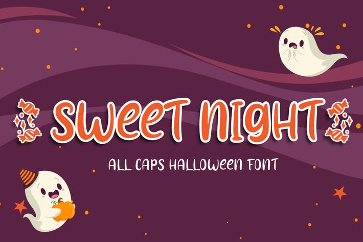 Thumbnail for Sweet Night - Halloween Font