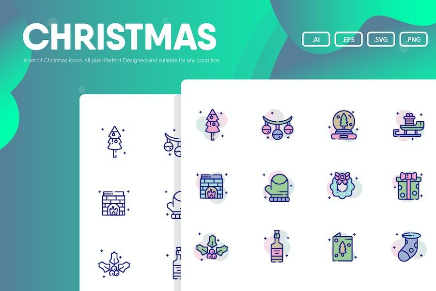 Paquete de iconos de Navidad