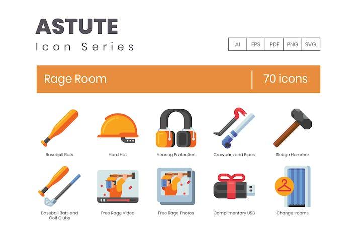 70 Rage Room Icons - Astute Series