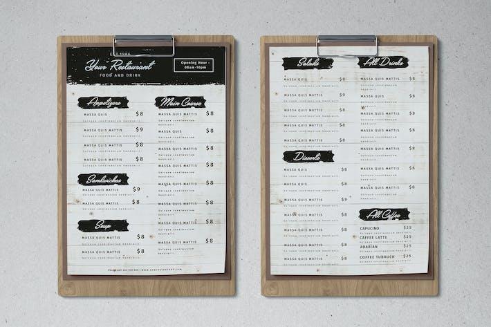 Cover Image For Modèle de menu Nourriture propre