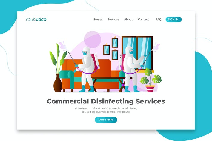 Thumbnail for Commercial Disinfecting Services - Landing Page