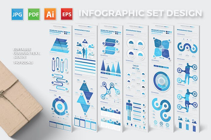 Thumbnail for Blue Infographics Design