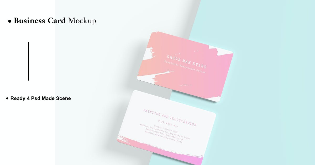 Download Business Card Mockup V.2 by AuthenticMockup