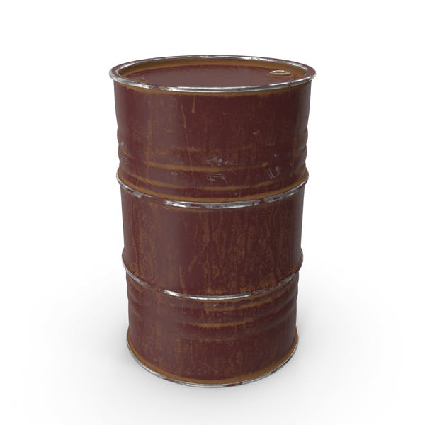 Metal Barrel Painted Oxide Red