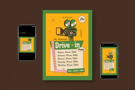 Movie Drive Theater Flyer Pack