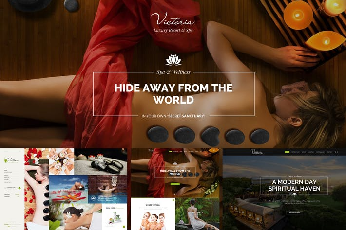 Thumbnail for Victoria - Spa & Wellness PSD Template