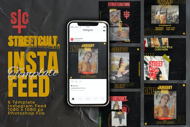Streetcult Instagram Feed Post Template - product preview 0