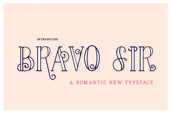 Thumbnail for Bravo Sir Font Family