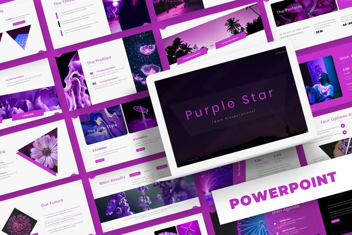 Purple Star - Powerpoint Template