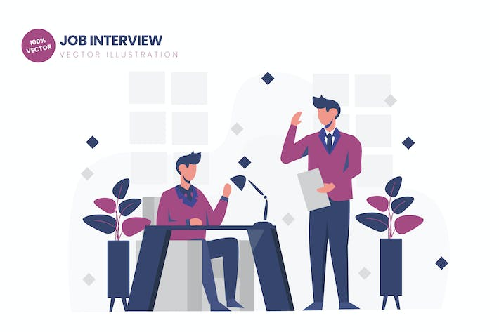 Thumbnail for Job Interview Flat Vector Illustration