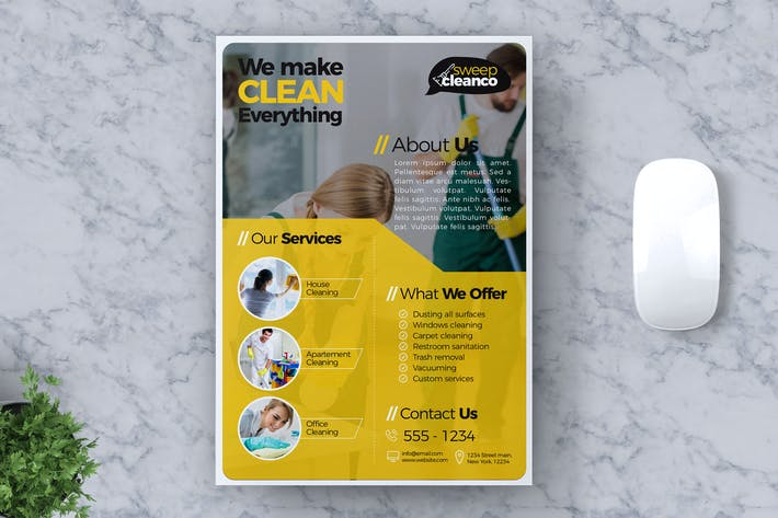 Thumbnail for Cleaning Service Flyer Template Vol #01