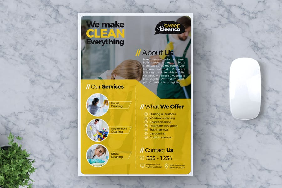 Cleaning Service Flyer Template Vol #01