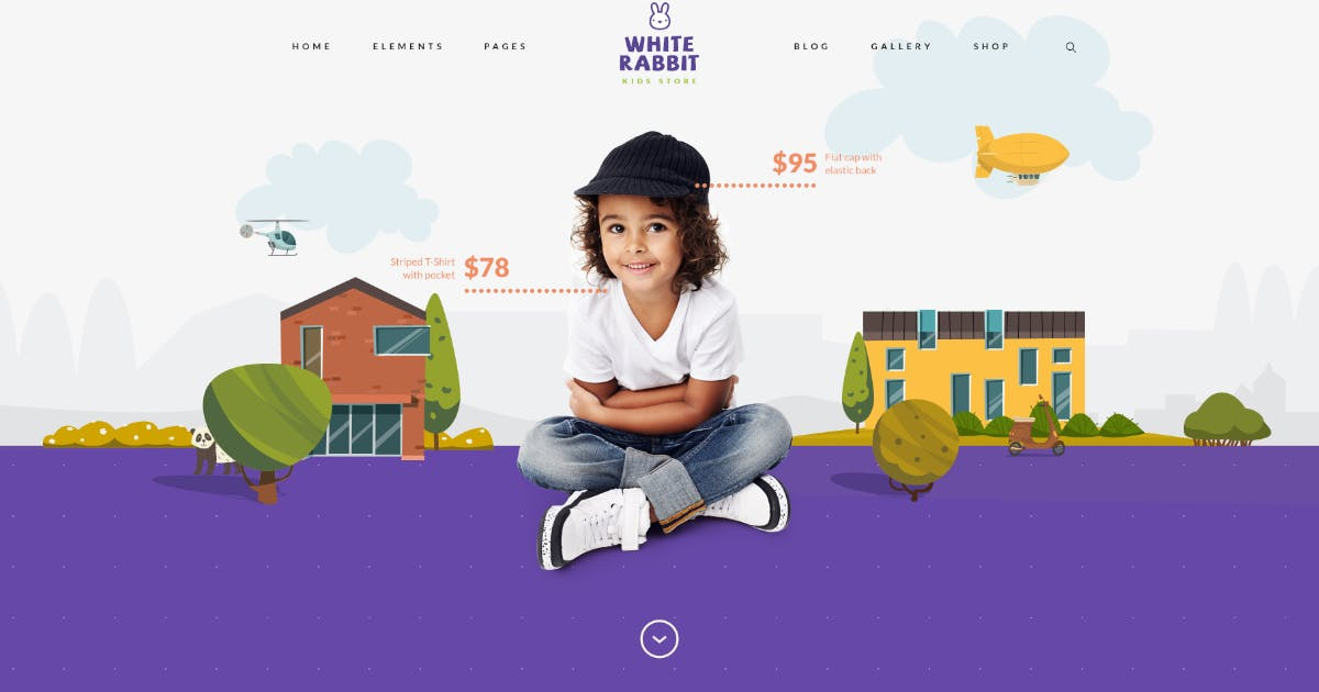 Download White Rabbit - Kids Toys & Clothing Store by axiomthemes