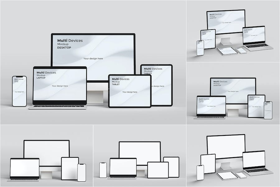 Multi device Mockup Phone, Tablet and PC