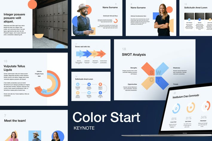 Thumbnail for Color Start Keynote Template