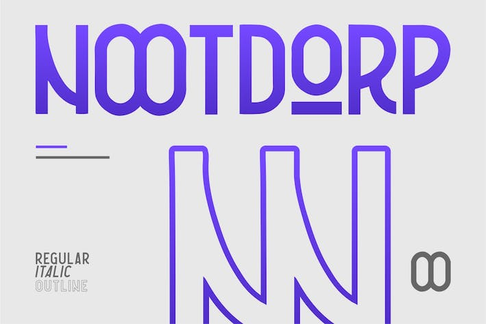 Thumbnail for Nootdorp | Headline Typeface