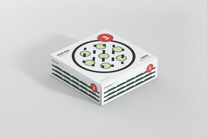 Thumbnail for Pizza Box Mockup - Triple Pack