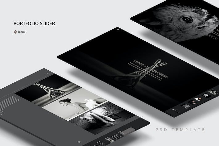 Thumbnail for Portfolio Slider PSD Template