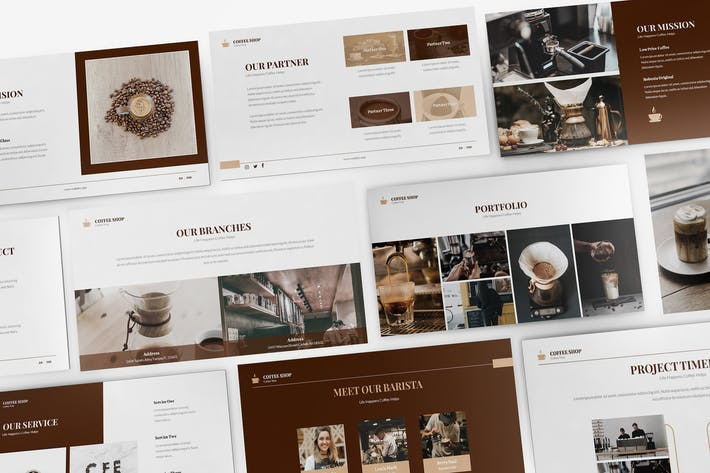 Thumbnail for Coffee Shop Keynote Presentation Template