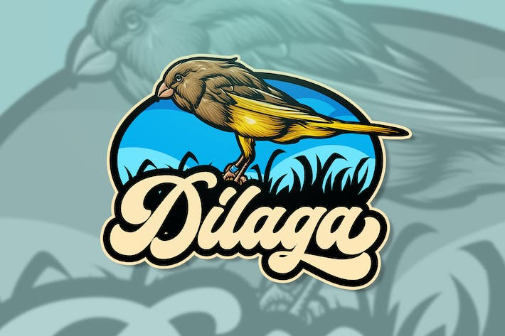 Thumbnail for Dilaga Bird Logo Template