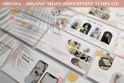 Organa - Organic Shape Powerpoint Template