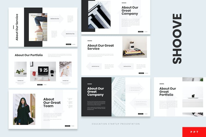Thumbnail for Shoove - Education Startup Powerpoint Template