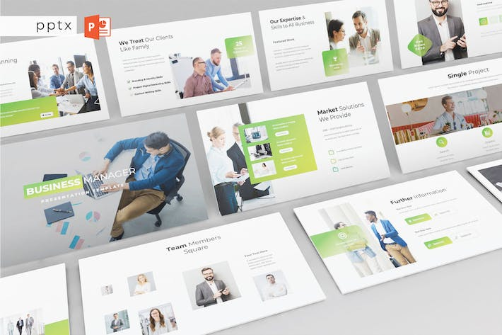 BUSINESS MANAGER - Powerpoint V610
