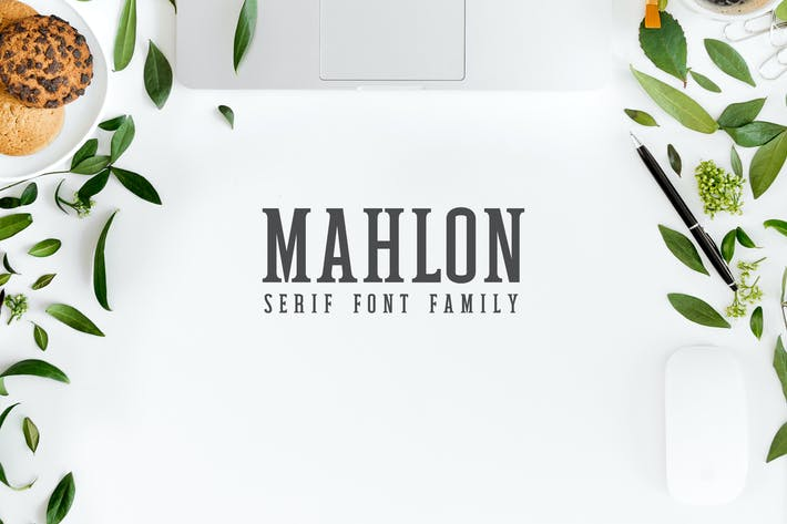Thumbnail for Mahlon Con serifa Font Family Pack