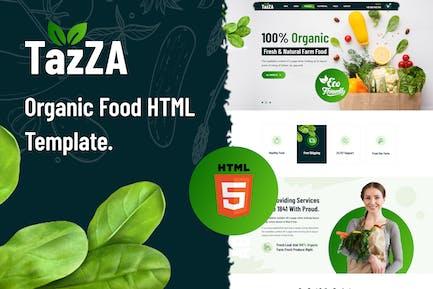 TazZA - Organic Food HTML5 Template