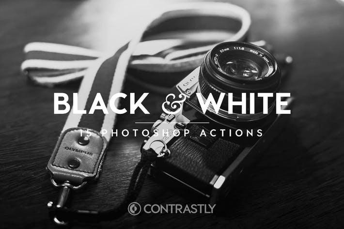 Thumbnail for Black & White Photoshop Actions