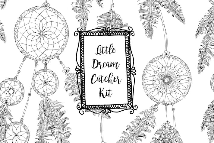 Thumbnail for Little Dreamcatcher Kit - Hand Drawn Elements